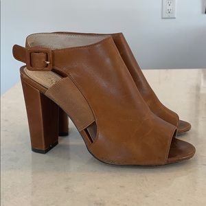 Vince Camuto Leather Open Toe Boots